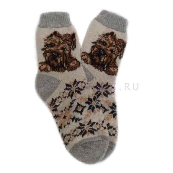 Женские шерстяные носки из овечьей шерсти арт.2116
