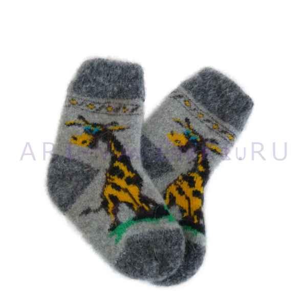 Детские шерстяные носки из овечьей шерсти арт.3344