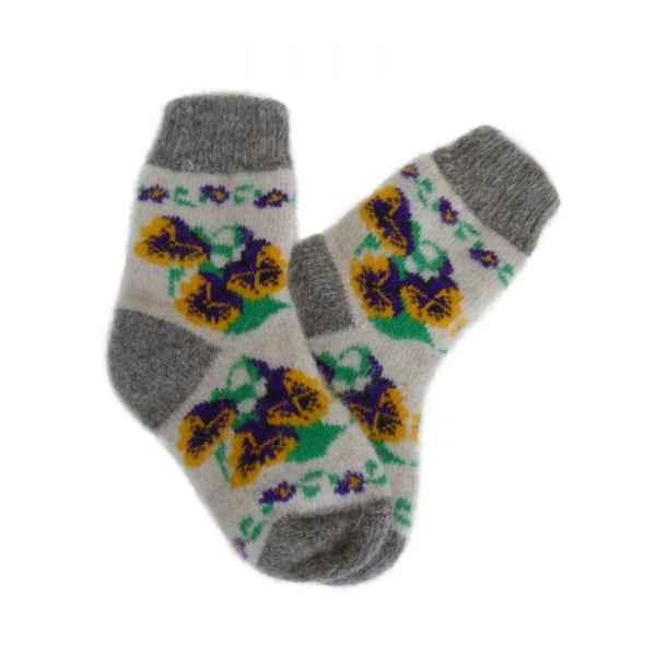 Детские шерстяные носки из овечьей шерсти арт 2012