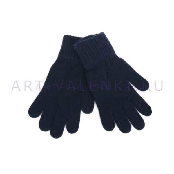 """Перчатки шерстяные муж.""""Синие"""" (Шерсть 70%, Акрил 300%)"""