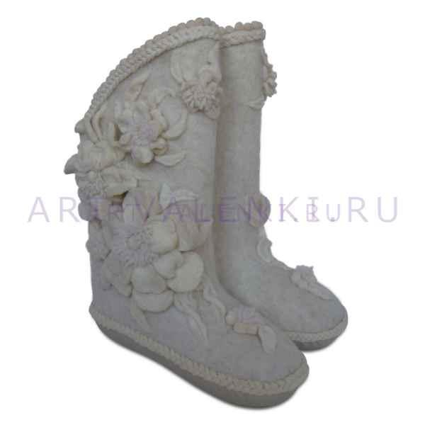 Валенки от Вячеслава Зайцева с подошвой мод.№1 длина стопы внутри 25 см