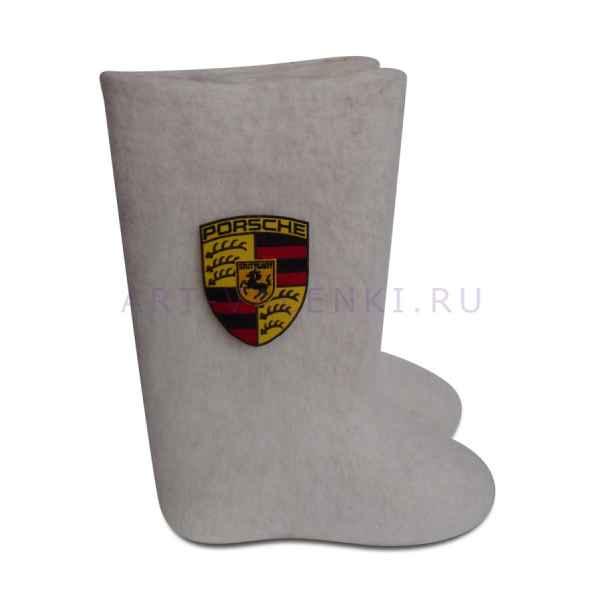 """Валенки ручной валки белые """"Porsche"""" с 23 по 24р. артикул 1032"""