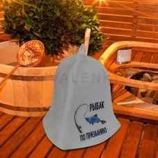 """Шапка для бани и сауны""""Рыбак по Призванию """"до 62 размера войлок"""