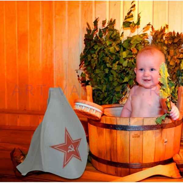 """Шапка детская для бани и сауны""""Буденовка"""" до 56 размера, войлок"""