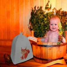 """Шапка детская для бани и сауны""""Белочка"""" до 56 размера, войлок"""