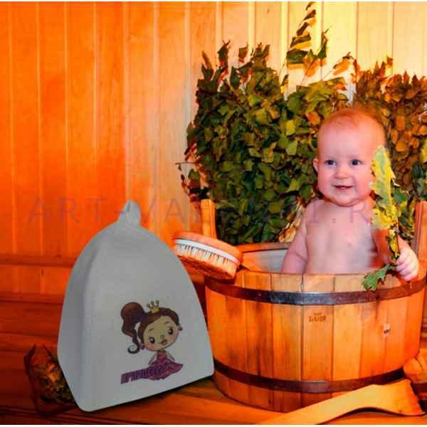 """Шапка детская для бани и сауны""""Принцесса"""" до 56 размера, войлок"""