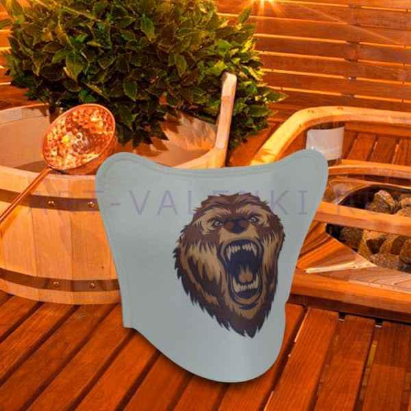"""Модельная шапка для бани и сауны""""  Медведь """"до 62 размера,  войлок"""
