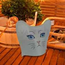 """Модельная шапка для бани и сауны"""" Кошка """"до 60 размера, войлок"""