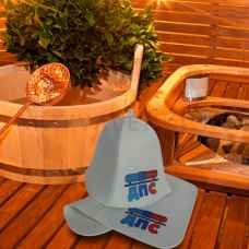 "Набор для бани "" ДПС""коврик 42 х 32 см, шапка до 62 р. войлок"
