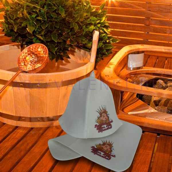 """Набор для бани """"А Я Королева! """"коврик 42 х 32 см, шапка до 62 р. войлок"""