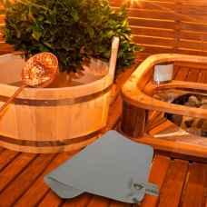 Коврик для бани, белый, 37 х 47 см, шерсть 100%