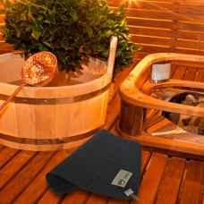 Коврик для бани, серый 37 х 47 см ,шерсть 100%
